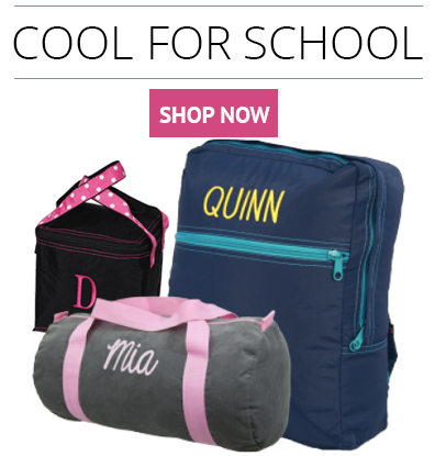 Shop for personalized school items