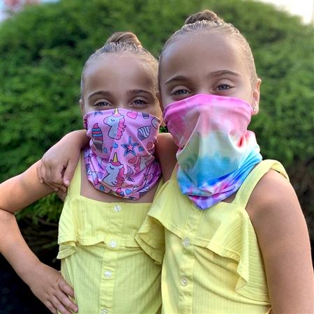 Primary Tie Dye Kids Neck Gaiter - Lauren & Lola